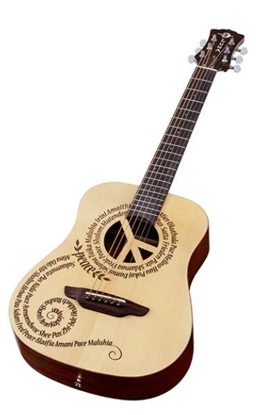 Guitare de voyage Safari Peace avec housse